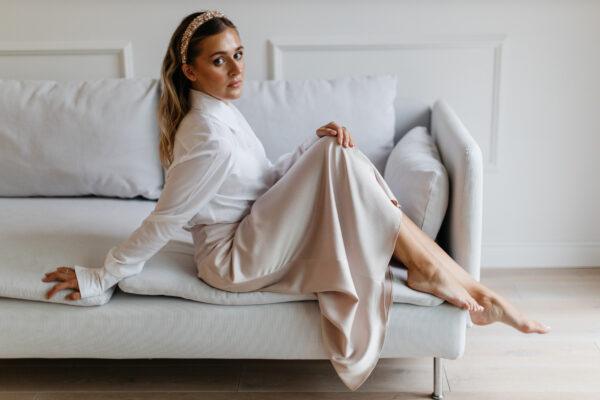 Satynowa spódnica Astrid