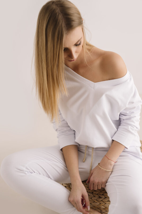 Spodnie dresowe white