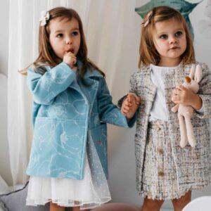 Dziewczęca tweedowa spódnica Poly