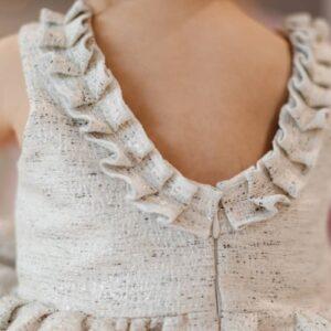 Dziewczęca tweedowa sukienka Coco