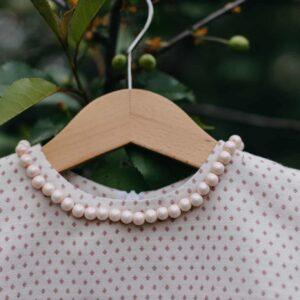 Dziewczęca sukienka z bawełny organicznej w kropki Pink Dots