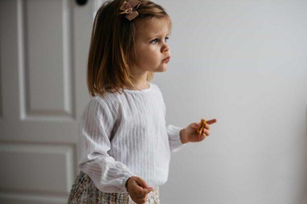 Dziewczęca bawełniana koszula z perełką Lima
