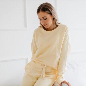 Bluza dresowa Pastel Yellow