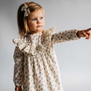 Dziewczęca sukienka retro z długim rękawem ROSE