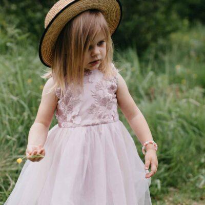 Dziewczęca sukienka z koronką i tiulem Alicja