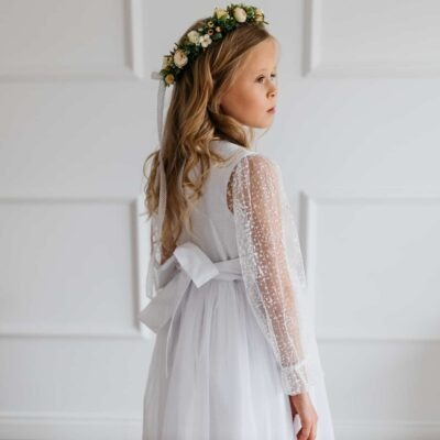 Satynowa sukienka komunijna Julia