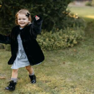 Dziewczęce futerko Black Teddy