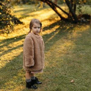 Dziewczęce futerko Brown Teddy
