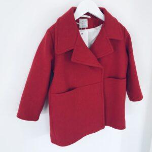 Dziewczęcy wełniany płaszcz Red Love