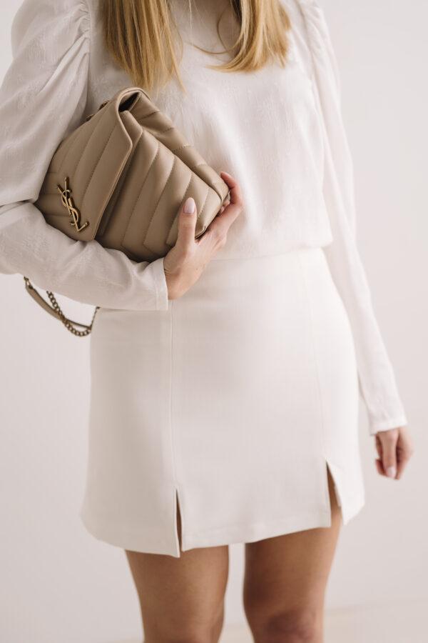 Trapezowa spódnica Off White