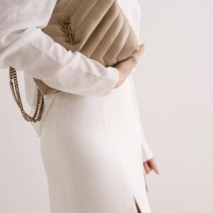 Żakardowa bluzka z bufkami na ramionach Florence