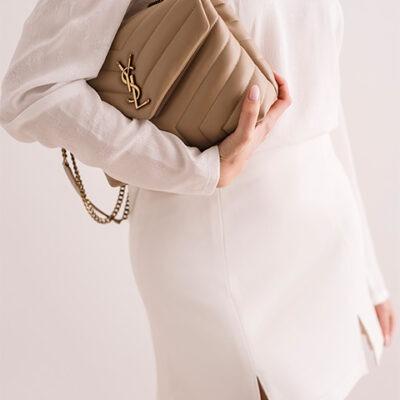 Trapezowa spódnica Off White mini