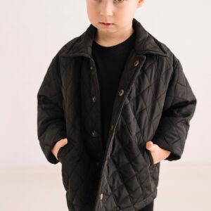 Chłopięca pikowana kurtka z kołnierzykiem