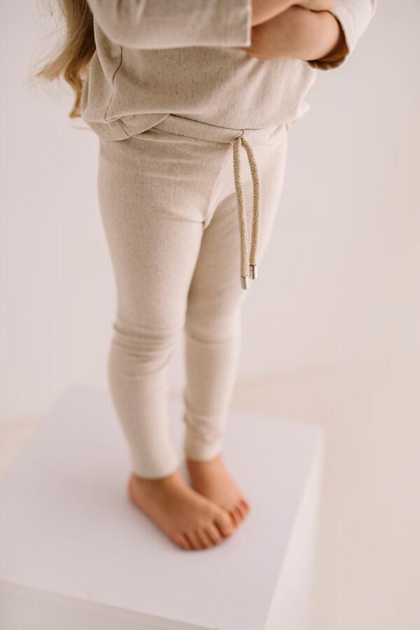 Komplet dresowy z lnu i bawełny mini