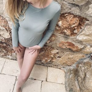 Body damskie z bawełny organicznej