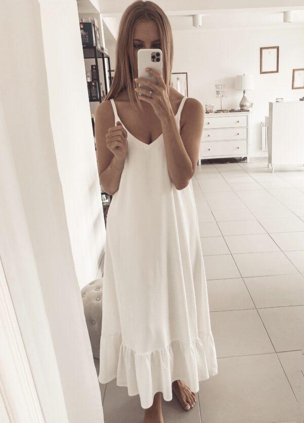 Zwiewna sukienka z falbaną Stella